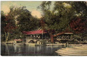 Postcard of the Lake House at Olentangy Park, 1911.