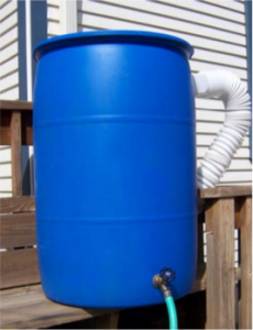 Rain Barrel attached to gutters
