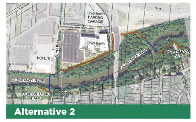 The Olentangy Gap Trail Alignment 2 has been selected by Columbus Recreation and Parks